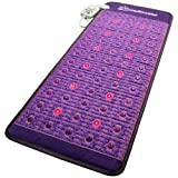 Far Infrared Amethyst Mat + Natural Agate Gems - FIR Heat - Negative Ion - Red Light Photon Therapy - 10Hz PEMF Bio Magnetic Pulsation - FDA Registered Manufacturer - Purple (Midsize 59''L x 24''W)