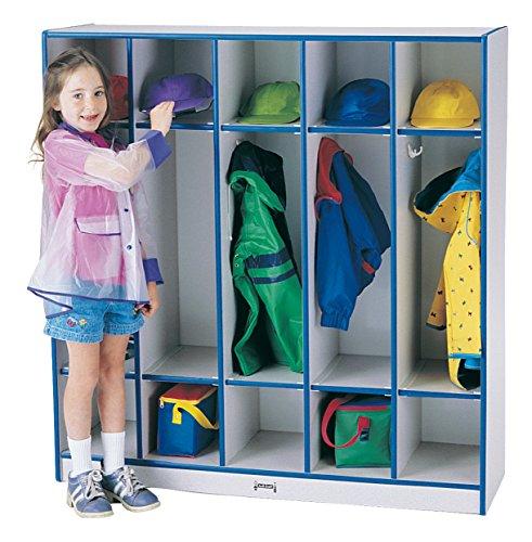 (Rainbow Accents 2681JCWW004 5 Section Coat Locker, Purple)