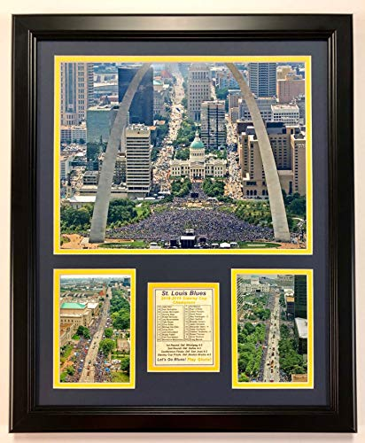 """Legends Never Die NHL St. Louis Blues Stanley Cup Champions Framed Double Matted Photos, Parade, 18"""" x 22"""""""