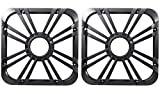 (2) Kicker 11L710GLC 10'' Charcoal Grilles With LED Lighting For SoloBaric 11S10L7 Subwoofer