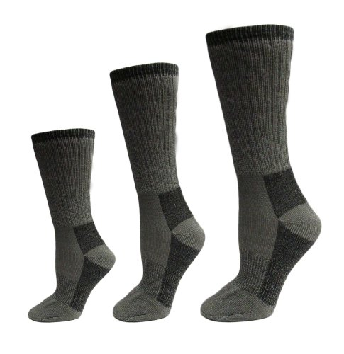 3 - Prs. Merino Wool Blend Socks- Size 10-13-unisex Sportsman Socks