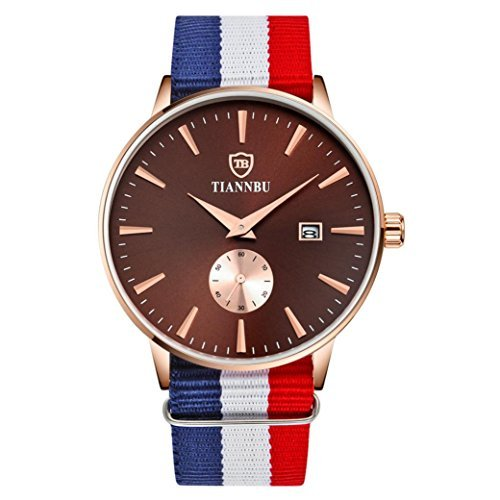 franterd® Relojes, tiannbu Hombre Mujer Reloj De Pulsera Mano Craf Ted Ultra Fina Fecha