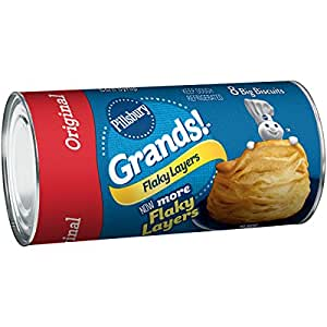 Pillsbury Grands! Refrigerated Flaky Layers Original Biscuits 8 Count 16.3 oz Can