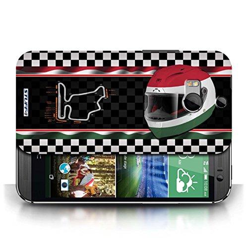 Etui / Coque pour HTC One/1 M8 / Hongrie/Budapest conception / Collection de F1 Piste Drapeau