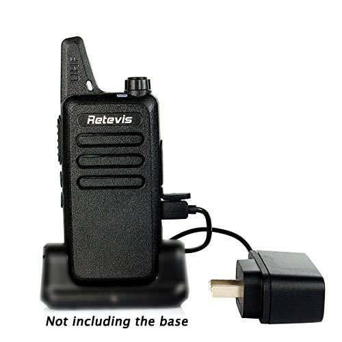 Retevis RT22 Two Way Radio 16 CH VOX 400-480MHz CTCSS/DCS Rechargeable Walkie Talkies(10 Pack) and Programming Cable by Retevis (Image #1)