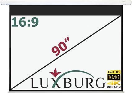 Luxburg® Pantalla de proyección a motorizada 203x115 cm (Diagonal ...