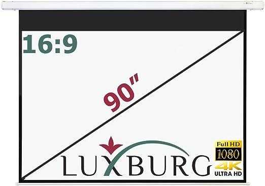 Luxburg /Écran de Projection Full HD 3D 244/x 244/cm Syst/ème denroulement Manuel 140-Inch//244 x 244 cm Blanc Mat