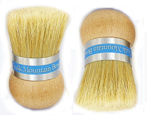 Chalk Mountain Brushes & Waxes - 2 Original Design Palm Wax Brush - Perfect for Wax, Painting & Sealing - Easy on The Hands - Ergonomic Design -