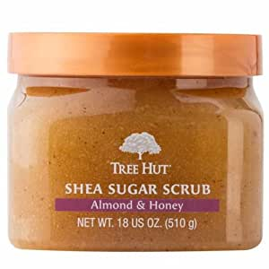 Tree Hut Shea Sugar Scrub, Almond & Honey, 18 Ounce (Pack of 3)
