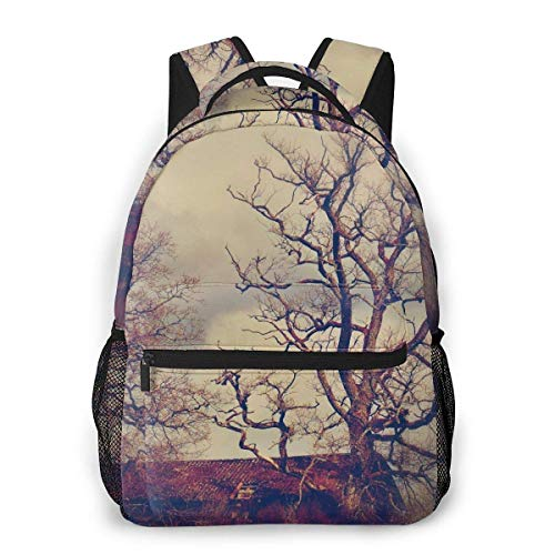 Game-JAY Fashion Hut Weird Gloomy Trees Casual Bookbag School Student Backpack For Travel Teen Girls Boys Kids Adult ()