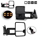 89 chevy 1500 tow mirrors - ECCPP Towing Mirrors For 1988-98 Chevy GMC C K 1500 2500 3500 Black Cover Power LED Turn Signal Pickup Mirrors
