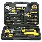 DOWELL 14 Piece Home Repair Tool Kit, General Household Tool Kit for Home Maintenance with Plastic Toolbox Storage Case