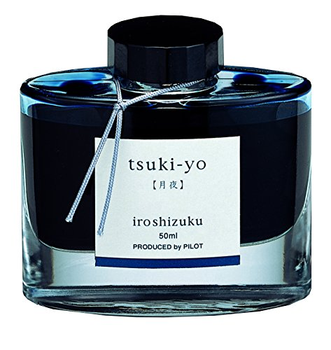 Pilot Iroshizuku Fountain Pen Ink - 50 ml Bottle - Tsuki-Yo, Moonlight, Teal (japan (50ml Bottle Ink)