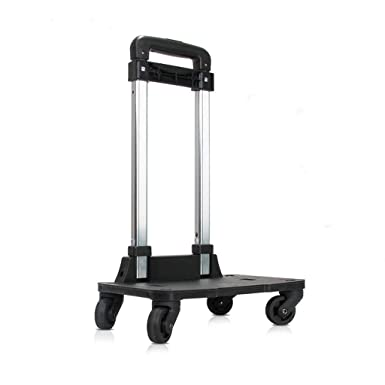 cc36010f7411 Backpack Trolley - Wheeled Hand Truck with 360 Rolling Wheels for Children  Kids School Bags,Luggage Cart Travel Trolley with Buckles Straps (4 Wheels)