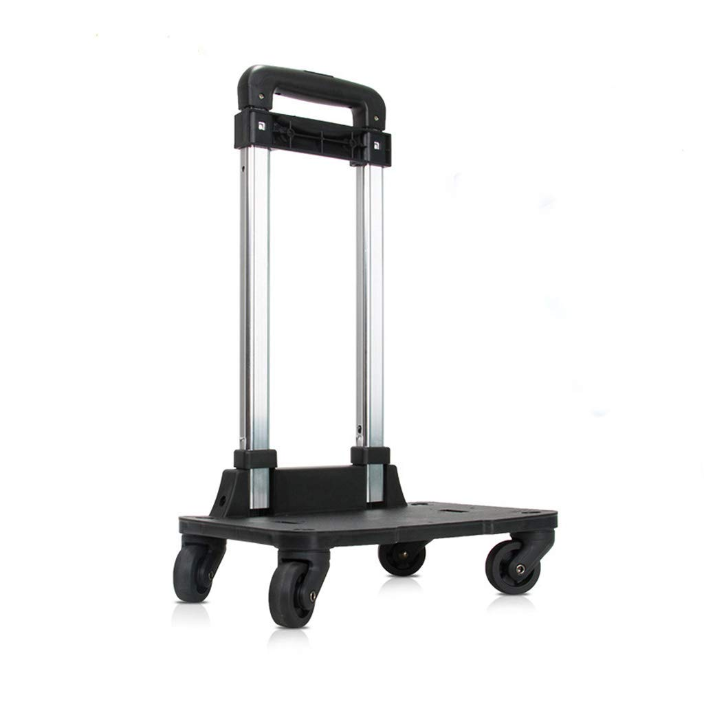 Backpack Trolley - Wheeled Hand Truck with 360 Rolling Wheels for Children Kids School Bags,Luggage Cart Travel Trolley with Buckles Straps Folding (4 Wheels)
