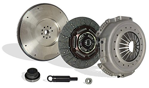 (Clutch With Solid Flywheel Kit Works With Ford F Super Duty F250 F350 XL XLT Custom 1988-1994 7.3L V8 DIESEL OHV Naturally Aspirated 7.3L V8 DIESEL OHV Turbocharged (Conversion Kit Works With))