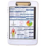 Medical Storage Clipboard with Quick Medical Reference - Clipboard for Doctors, Medical Students, Physician Assistants, and Nurse Practitioners