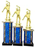 Cricket Bowler Award Trophy (3-Pack) 1st 2nd 3rd Place