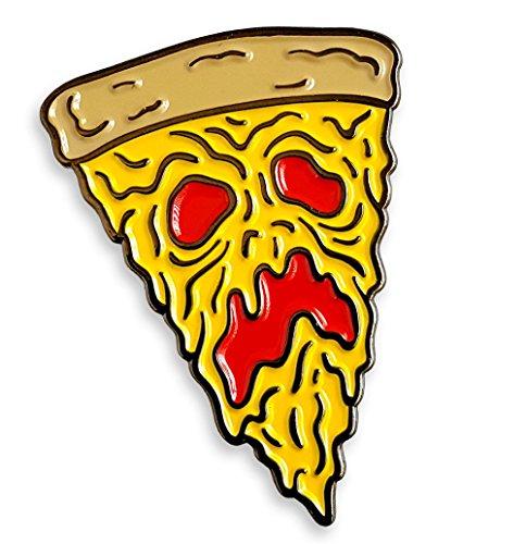 - Pinsanity Funny Necronomicon Evil Dead Pizza Slice Enamel Lapel Pin