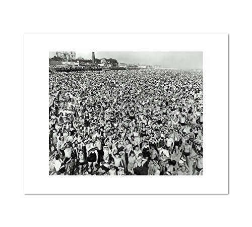 [Afternoon Crowd at Coney Island, Brooklyn] by Weegee, July 21, 1940. Art Print