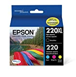 Epson T220XL-BCS Cartridge Ink, 4 Pack, Black, Cyan, Magenta, Yellow