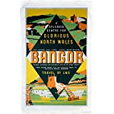 Bangor - A Splendid Centre for Glorious North Wales - LMS poster 1923-1947 - Microfibre Tea Towel - 10170750 - Makes an Ideal Gift by personalised4u