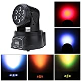 JUDYelc Pocket Spot Mini 70W LED Moving Head Light 4 in1 RGBW DMX512 Stage Party DJ PAR Lighting 9/14 Channel for Indoor Club Party Show DJ KTV