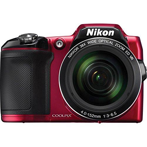 Nikon CoolPix L840 Digital Camera (Red) - International Version (No Warranty)