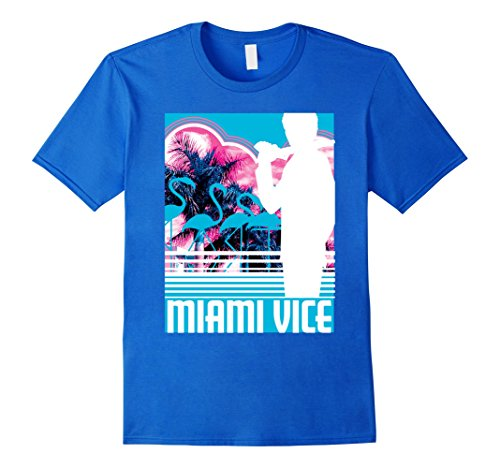 Miami Vice Classic Neon Poster T-shirt, 5 colors, men, women