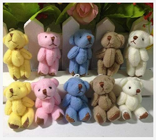 EXTOY Wholesale 100Pc/Lot 3.5Cm/4.5Cm Mini Joint Bear Teddy Bear Doll Cell Phone Pendant ,Mini Joint Plush Keychain Bear Bouquet Toy Thing You Must Have 4 Year Old Boy Gifts The Favourite from EXTOY