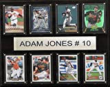 MLB Baltimore Orioles Adam Jones Plaque (8-Card), 12 x 15-Inch