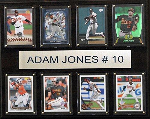 MLB Baltimore Orioles Adam Jones Plaque (8-Card), 12 x 15-Inch Baltimore Orioles Mlb Wall