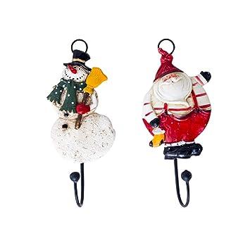 BESTOYARD 2 unids Navidad Ganchos para baño Cocina toallero Puerta Toallas Colgantes decoración de Navidad