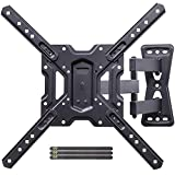 Full Motion Swivel Articulating Tilt TV Wall Mount Bracket for 26-55' LED, OLED, 4K TVs-Fit for 32, 40, 50 TV with VESA Up to 400x400mm-Weight Capacity Up to 60lbs by USX MOUNT