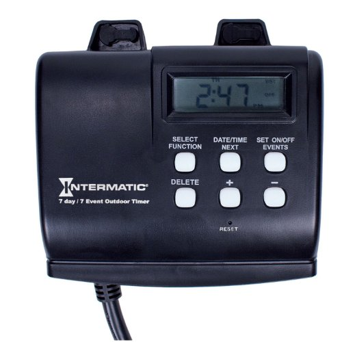 Timer For Outdoor Lights Outdoor timer amazon intermatic hb880r 15 amp outdoor digital timer for control of lights decorations pumps or fans with astronomic self adjust workwithnaturefo