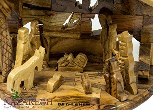 Bethlehem Star Nativity Statue Hand Carved Olive Wood Set Holy Land 6.7'' by Holy Land Gifts (Image #1)