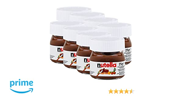 Ferrero Nutella pequeño mini diseño cristal - Set de 8 a 25 g, Pan, untar Crema nugat Nuez, Chocolate auftrich: Amazon.es: Hogar