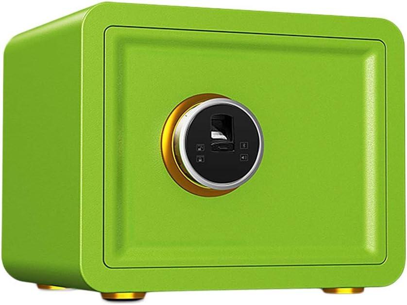 安全な 安全なホーム小型指紋認証キーセキュリティ金庫が金庫クローゼットロッカーベッドサイドテーブルセーフティーボックスオフィスのすべてのスチール (Color : F, Size : 38*30*30cm)