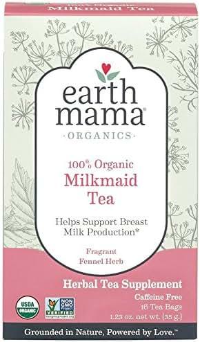 Earth Mama Organic Milkmaid Tea for Breastfeeding Mothers, 16-Count