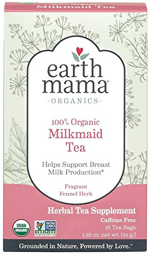 Earth Mama Organic Milkmaid Tea for Breastfeeding Mothers, 16-Count