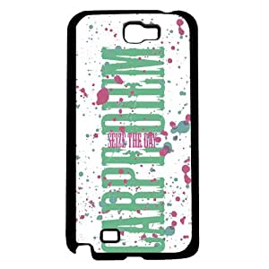 Carpe Diem Seize the Day Pink and Green Hard Snap on Phone Case (Note 2 II)