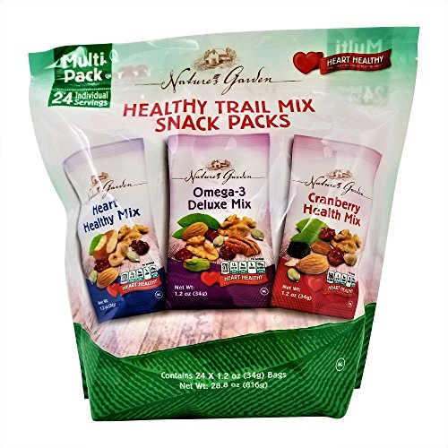 (Nature's Garden Healthy Trail Mix Snack Packs 1.2 oz, Pack of 24 (Total 28.8 oz))