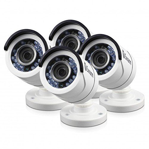 Swann SWPRO-T853CAM White 1080p Bullet Camera MicrophonePRO-T853 – 1080P Multi-Purpose Day/Night Security Camera 4 Pack Bundle