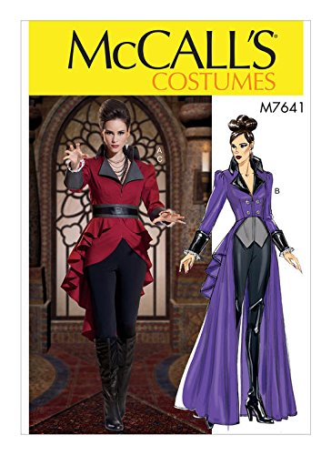 Mccalls Costumes Patterns (MCCALLS M7641 Misses' Jacket Costume with Belt (SIZE 14-22) SEWING)