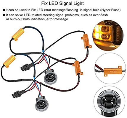 Amazon.com: Fydun Single Resistance Wire Fix Hyper Flash ... on can filter, can dimensions, can design, can go, can wire, can fan, can frame,