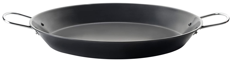 IBILI 501028 Plato de Paella Gandia Acero Negro, Acero, Negro, 28 x 40 x 4 cm