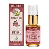 Badger Face Oil, Damascus Rose 1 fl oz (29.5 ml) (Pack of 4)
