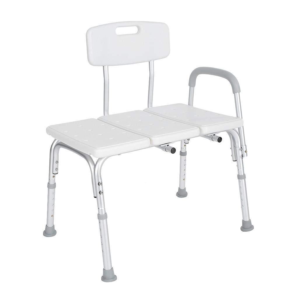 Bath Stool Heavy Duty Bath & Shower Assist- Bariatric Tub Transfer Bench, Adjustable Handicap Shower Steel Chair Medical Bathroom Accessibility Aid for Bathroom Aid Dementia Patients and Older Generat