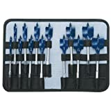 Bosch DSB5013P RapidFeed™ Spade Drill BIts/Nylon Storage Case 13 Piece Set