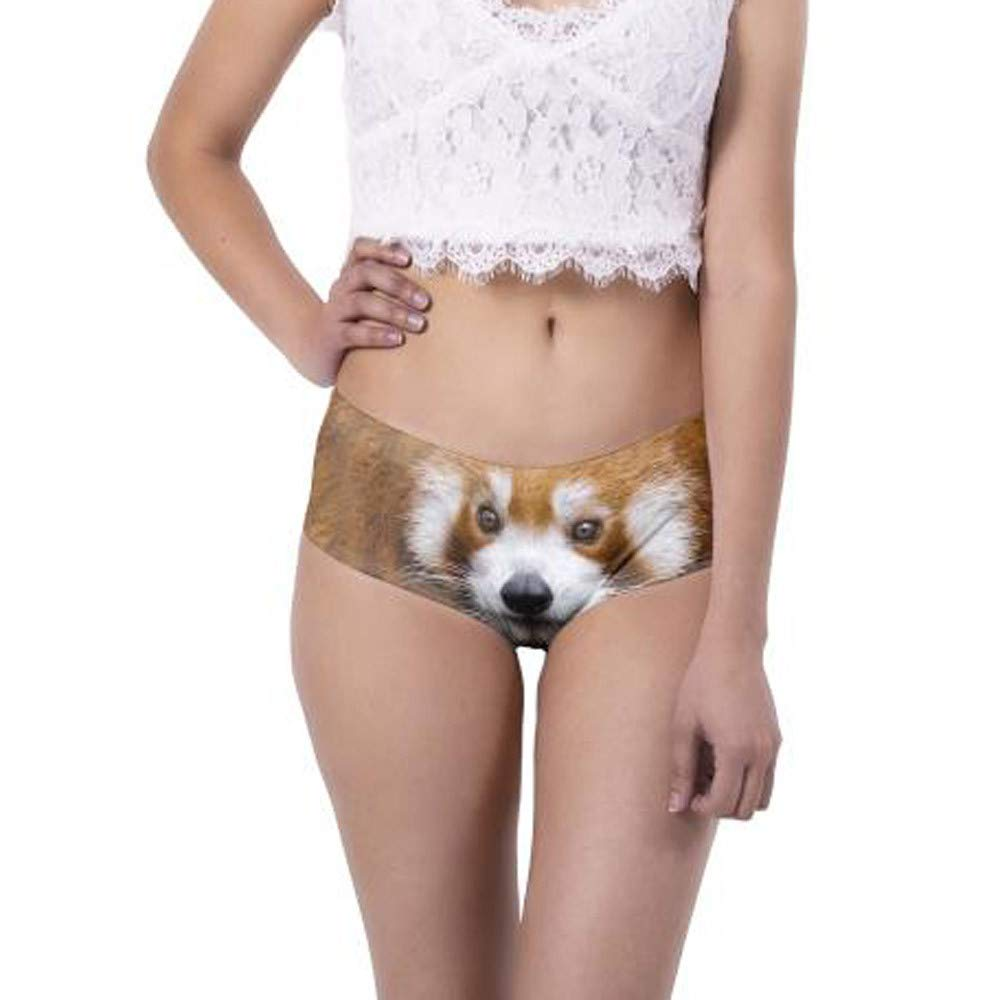 Women Sexy Briefs, Animal 3D Digital Printing Underwear Breathable Clubwear (1 PC, A)